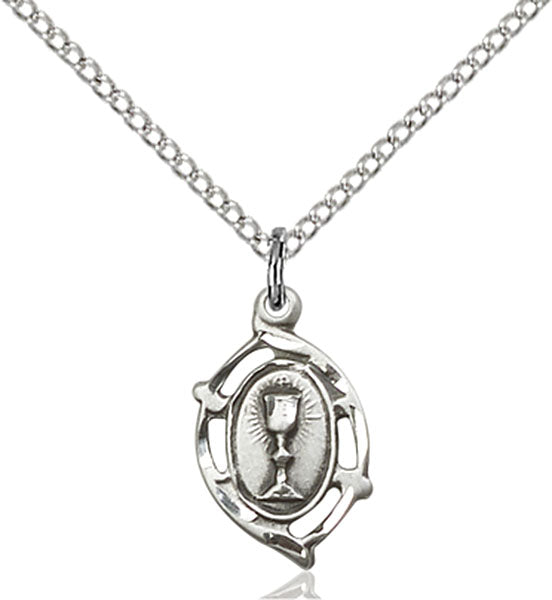 Sterling Silver Communion Necklace Set