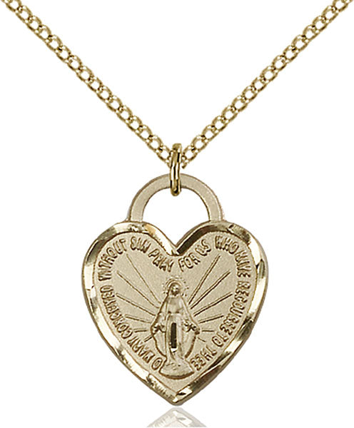 Gold-Filled Miraculous Heart Necklace Set
