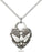 Sterling Silver Confirmation Heart Necklace Set