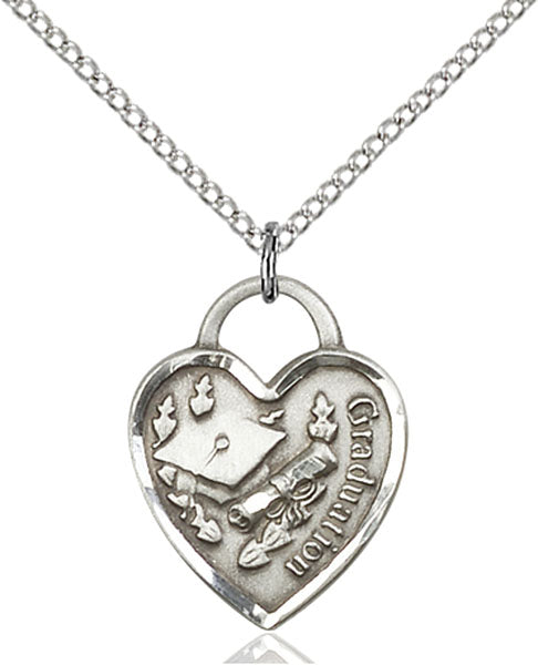 Sterling Silver Graduation Heart Necklace Set