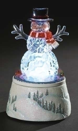 Musical 6-inchH Lighted Rotating Snowman