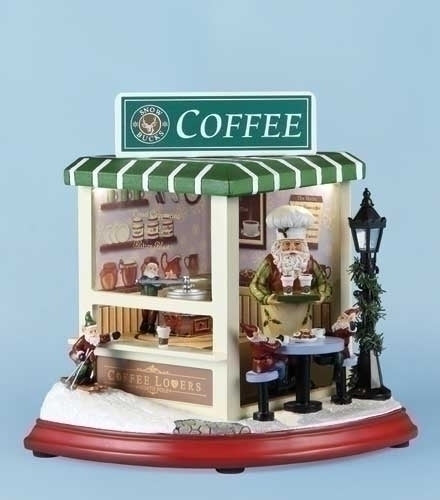 Musical 8-inch LED Coffee Shop Rotate
