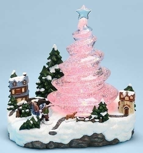8.5-inch LED Swirl Tree Town Scene