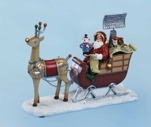 Musical LED 11-inchW Santa With Radar In