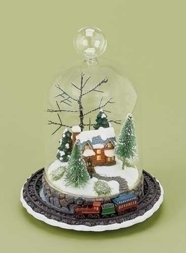 8-inch LED Rotatng Christmas Train Tbltp