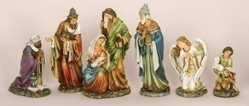 16-inchH 6Pc Saint Nativity With Angel