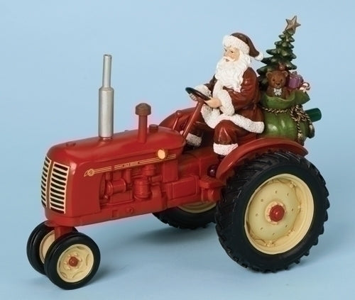 Musical 9.5-inch W Tractor With Santa B/O