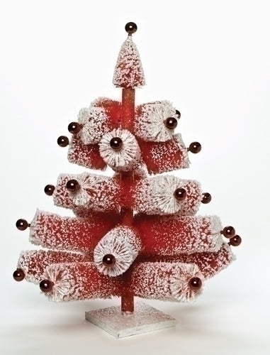 28-inch Fat Brush Red Christmas Tree