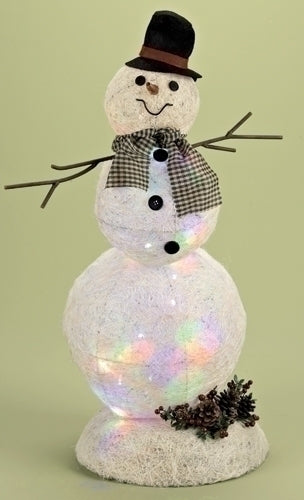 25.5-inch Lighted Snowman Figurineure