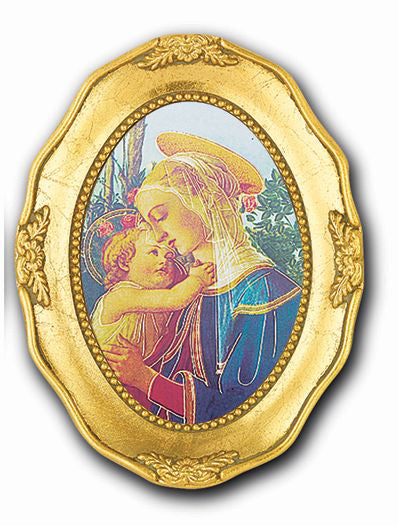 Madonna and Child Gold Leaf Frame 3 1/2 X 4 1/2