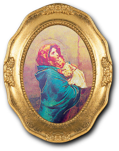 Madonna Of Street Gold Leaf Frame 3 1/2 X 4 1/2