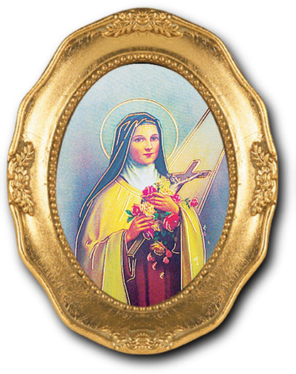 St Therese Gold Leaf Frame 3 1/2 X 4 1/2