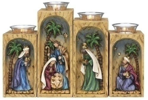 4Pc Saint 8-inch Votive Holdr With Glass