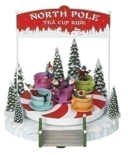 Musical 8-inch North Pole Ride Figurine
