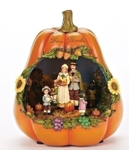Musical 9-inch LED Give Thanks Pumpkin