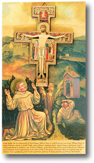 San Damiano Cross On Prayer Crd