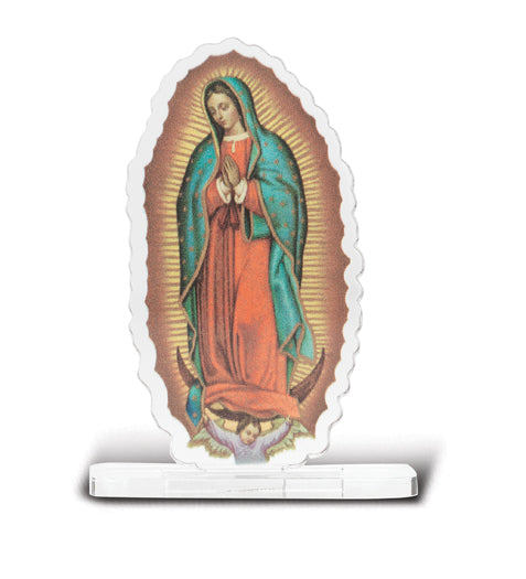 2-inchX2 3/4-inch Our Lady Of Guadalupe Statuette With Base 5-Pack