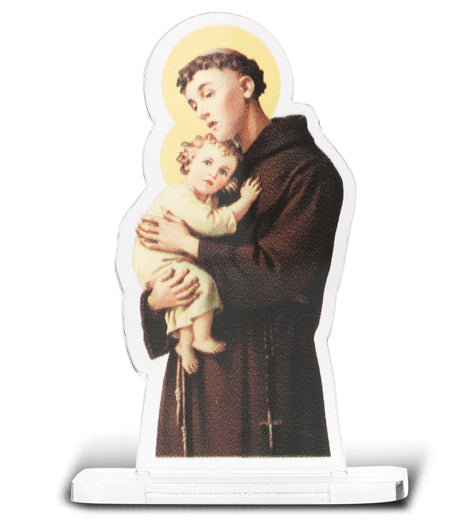 2-inchX2 3/4-inch Saint Anthony Statuette With Base 5-Pack
