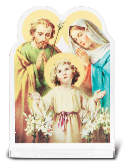 2-inchX2 3/4-inch Holy Family Statuette With Base 5-Pack