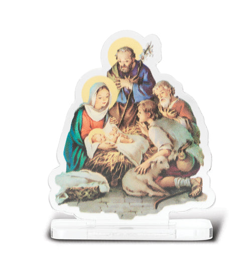 2-inchX2 3/4-inch Nativity Statuette With Base 5-Pack