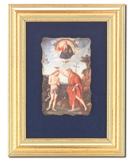 Baptism Of Jesus Frescoe In 361B Frame