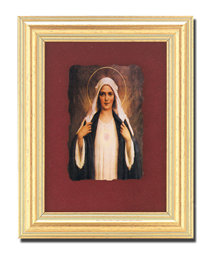 Immaculate Heart Of Mary Frescoe In 361R Frame