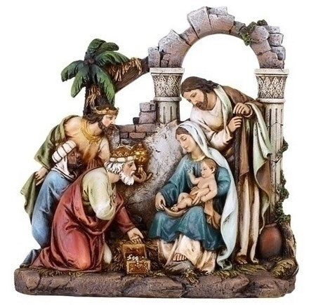 8.5-inch Nativity Scene Figurine With Holy