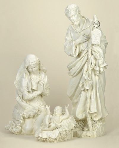 3Pc Saint 38-inch Holy Family Ivory