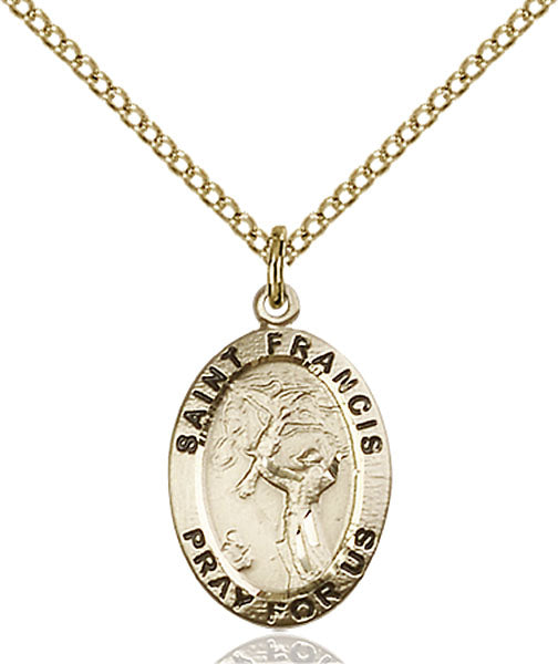 Gold-Filled Saint Francis of Assisi Necklace Set