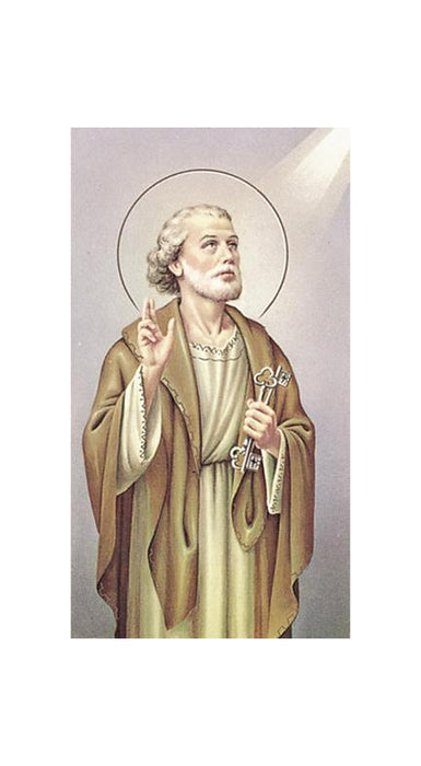100-Pack - Saint Peter The Apostle Holy Card