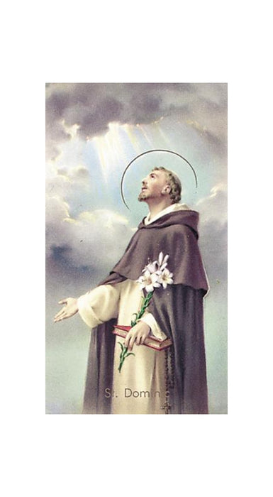 100-Pack - Saint Dominic Holy Card