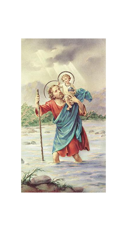 100-Pack - Saint Christopher Holy Card