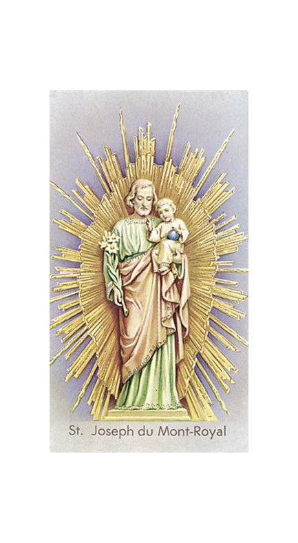 100-Pack - Saint Joseph Mont-Royal Holy Card