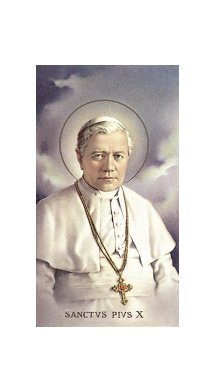 100-Pack - Saint Pius X Holy Card