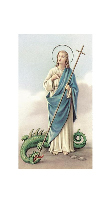 100-Pack - Saint Martha Holy Card