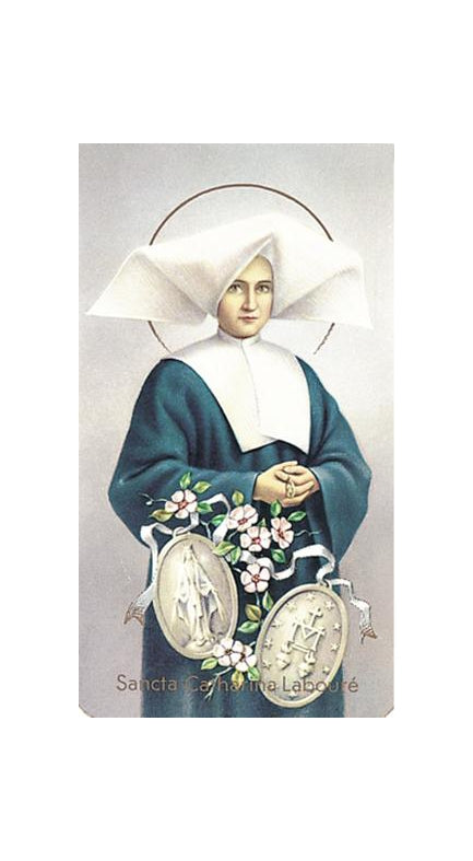 100-Pack - Saint Catherine Laboure' Holy Card
