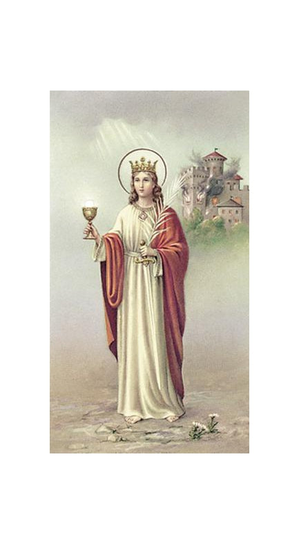 100-Pack - Saint Barbara Holy Card