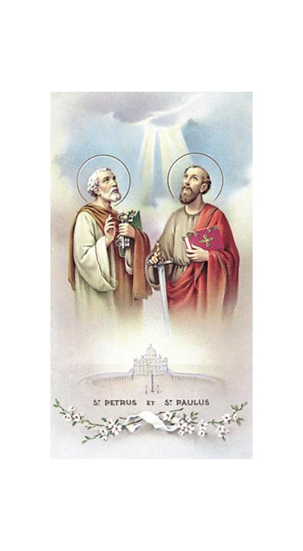 100-Pack - Saint Peter and Paul Holy Card