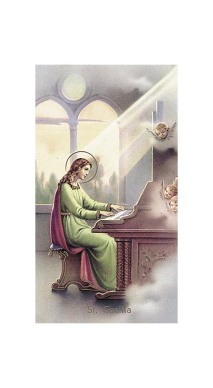 100-Pack - Saint Cecilia Holy Card