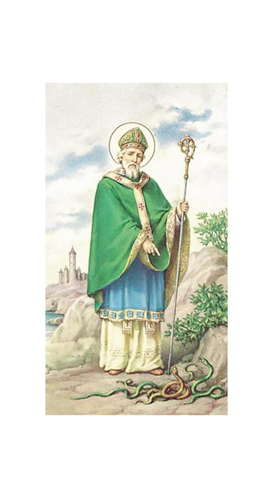 100-Pack - Saint Patrick Paper Holy Card