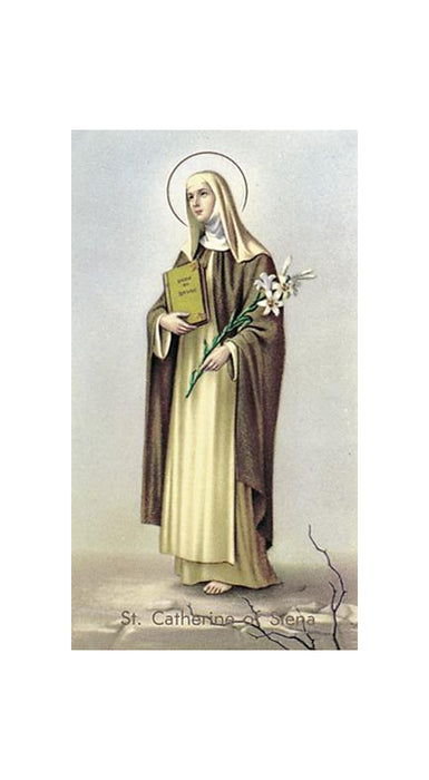 100-Pack - Saint Catherine Of Seina Holy Card