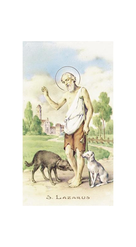 100-Pack - Saint Lazarus Holy Card