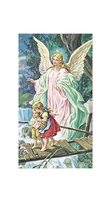 100-Pack - Guardian Angel Crossing The Bridge Holy Card