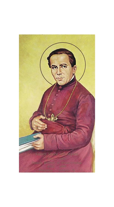 100-Pack - Saint John Neumann Holy Card