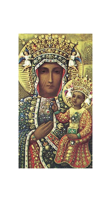 100-Pack - Our Lady Of Czestochowa Holy Card
