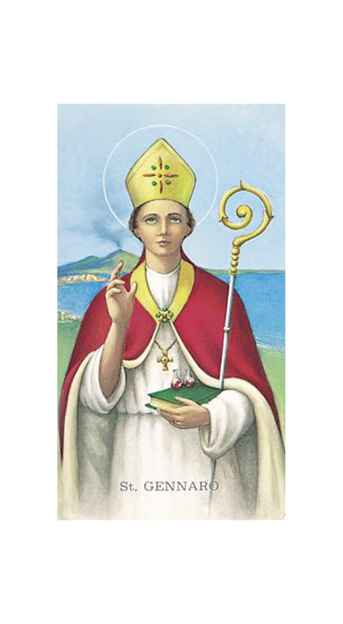 100-Pack - Saint Gennaro Holy Card