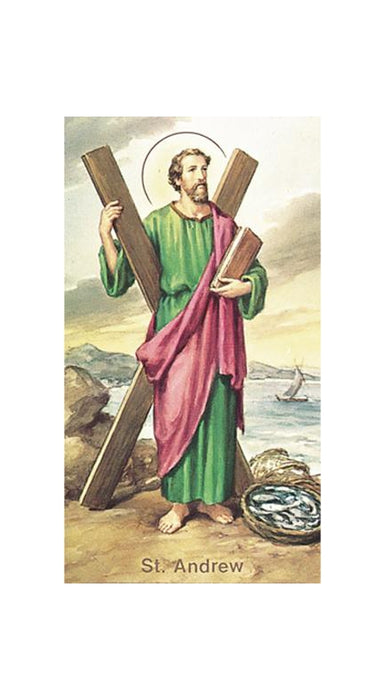 100-Pack - Saint Andrew Holy Card