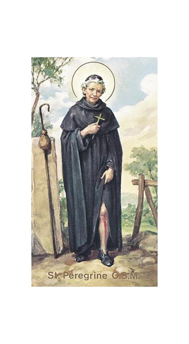 100-Pack - Saint Peregrine Holy Card