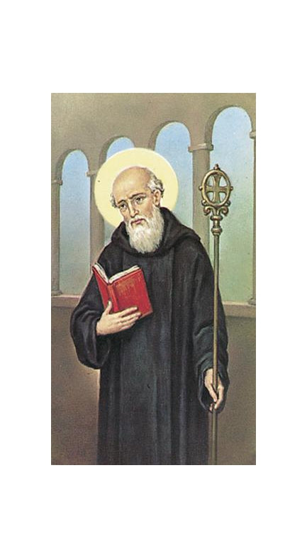 100-Pack - Saint Benedict Holy Card