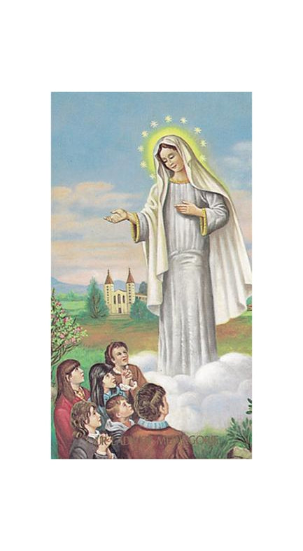 100-Pack - Our Lady Of Medjugorje Holy Card